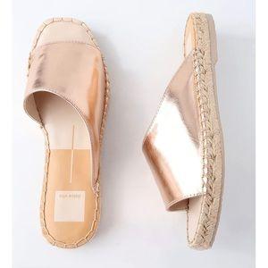 Dolce Vita Cato Rose Gold Leather Slide Sandals 9M
